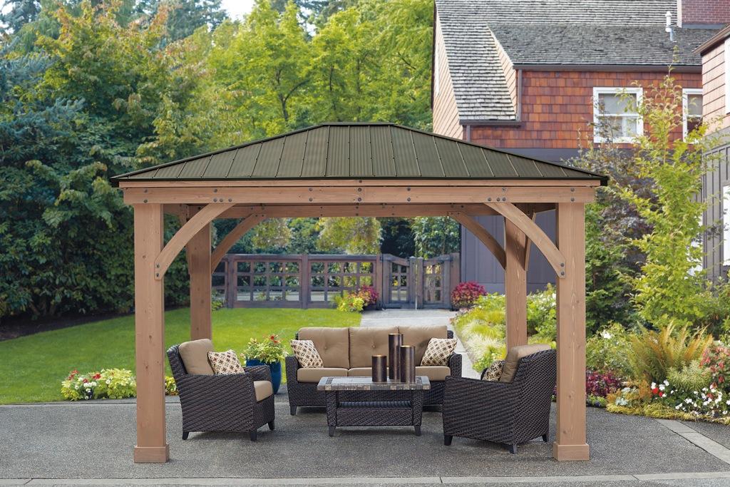 WESTMANN Holzpavillon Devon 12x14, BxT: 366x427 cm günstig online kaufen