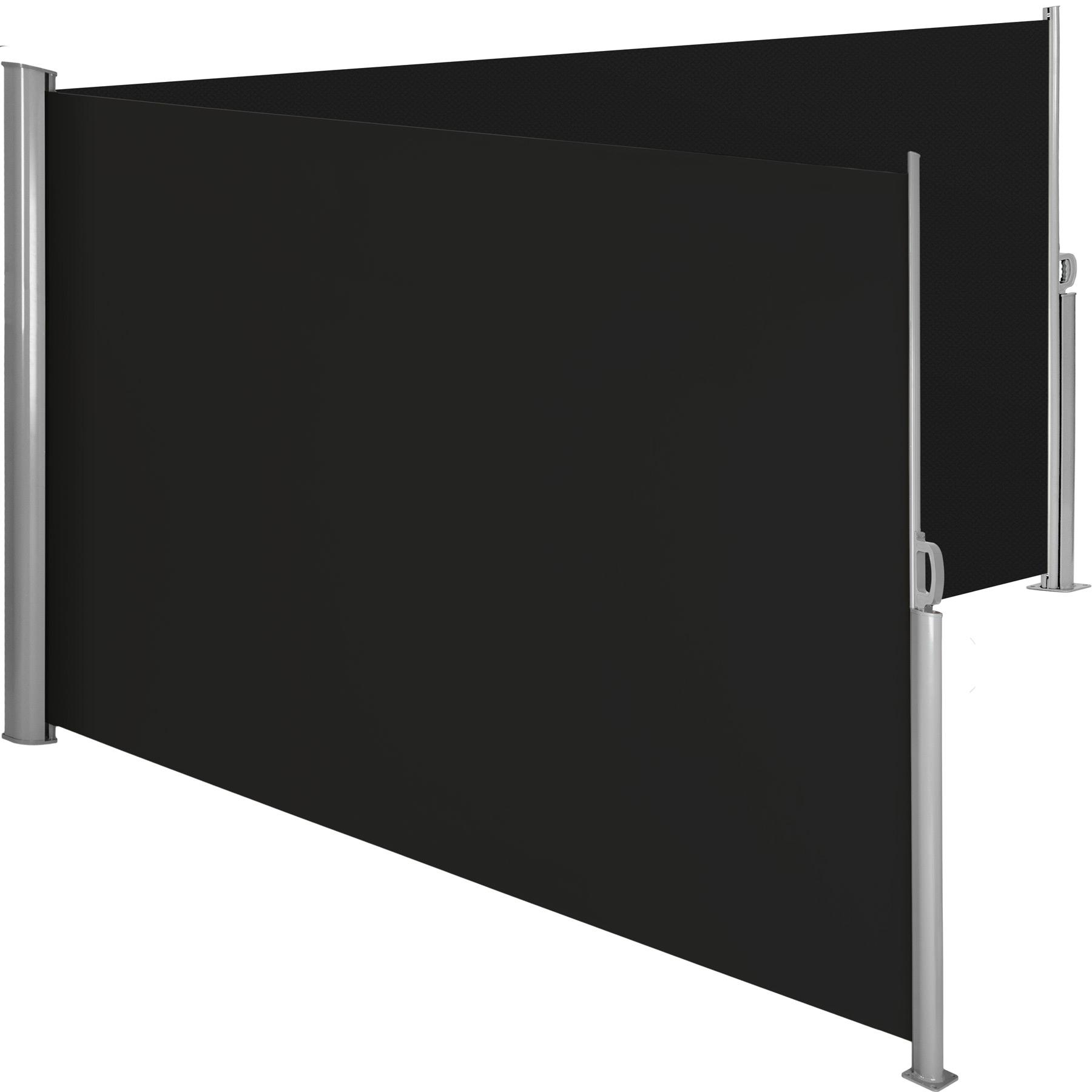 Aluminium Doppel Seitenmarkise - schwarz, 200 x 600 cm günstig online kaufen