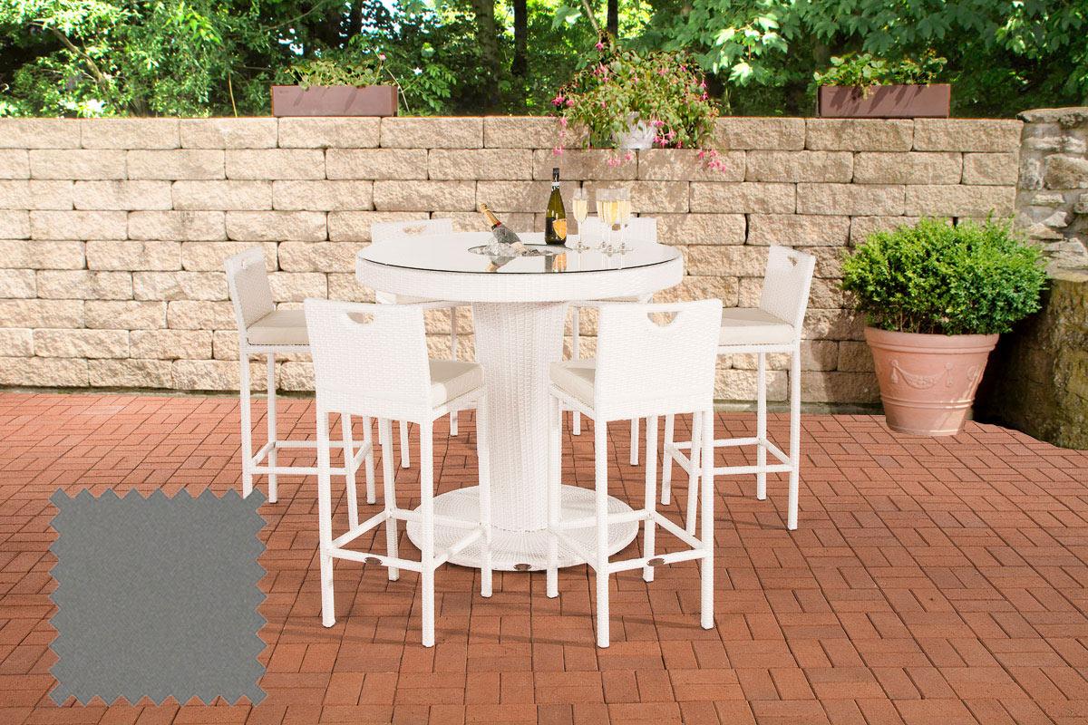 Gartenbar Mari XL Eisengrau weiß günstig online kaufen