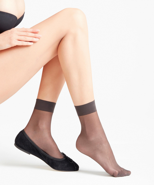 FALKE Seidenglatt 15 DEN Damen Socken, 35-38, Grau, Uni, 41390-352901 günstig online kaufen