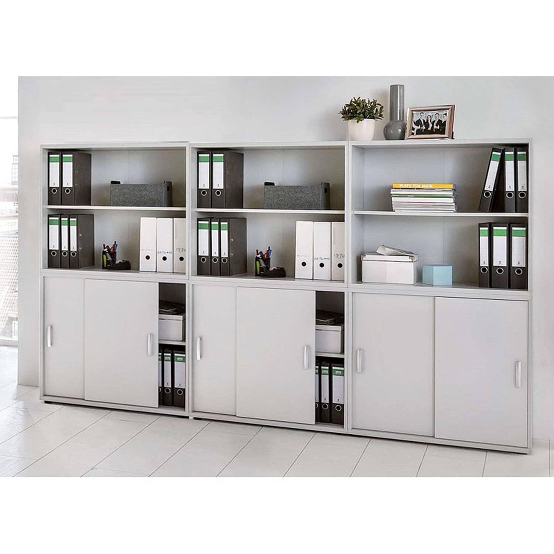 Büromöbel Aktenschrank & -regal Set TYP1900 lichtgrau, Schiebetürenschränke günstig online kaufen