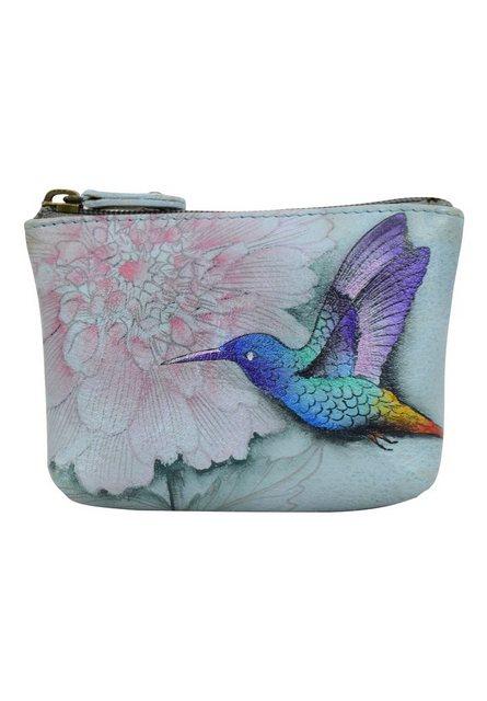 ANUSCHKA Mini Geldbörse »Rainbow Birds aus handbemaltem Leder« günstig online kaufen