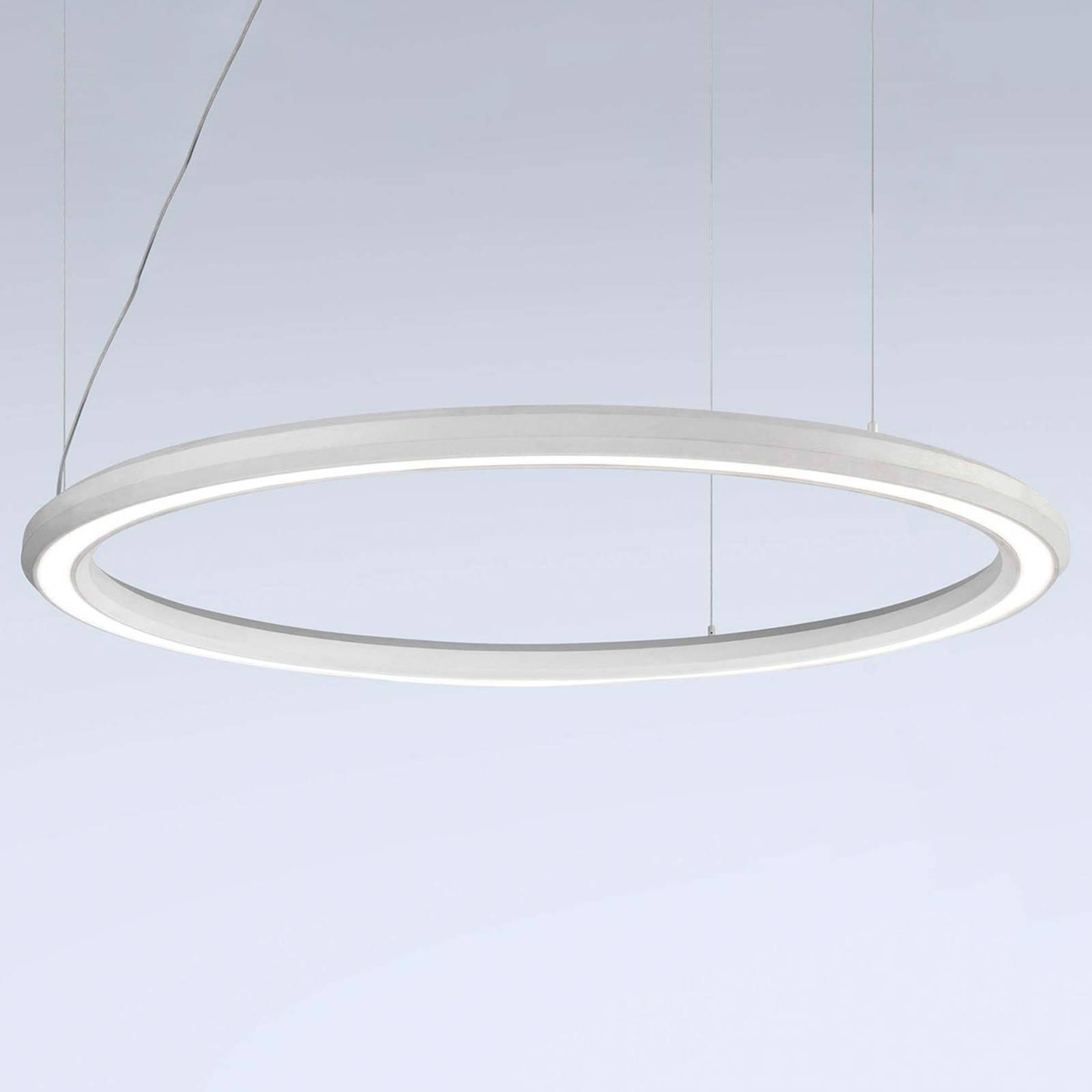 LED-Hängeleuchte Materica unten Ø 120 cm weiß günstig online kaufen