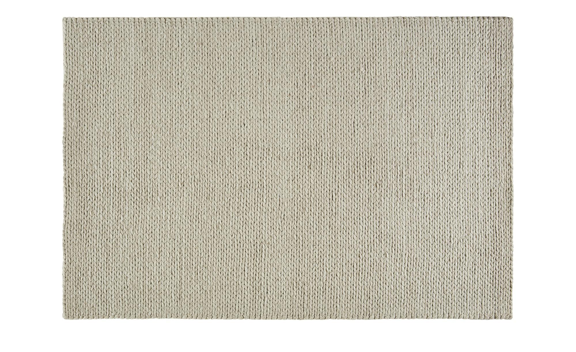 Gray & Jones Handwebteppich ¦ beige ¦ Baumwolle, Wolle, Viskose Teppiche > günstig online kaufen
