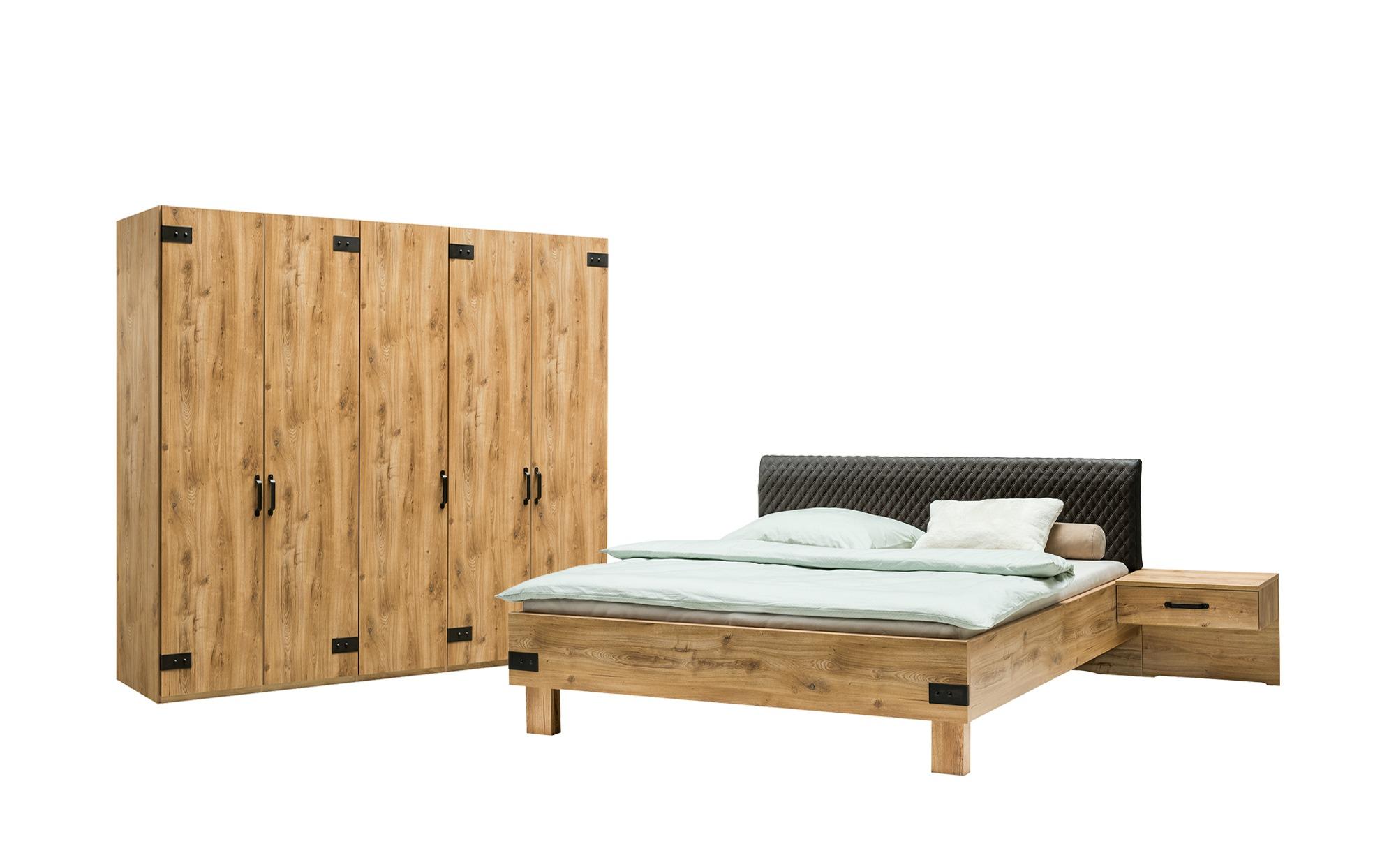 uno Komplett-Schlafzimmer, 4-teilig  Salzburg ¦ holzfarben Komplett-Schlafz günstig online kaufen