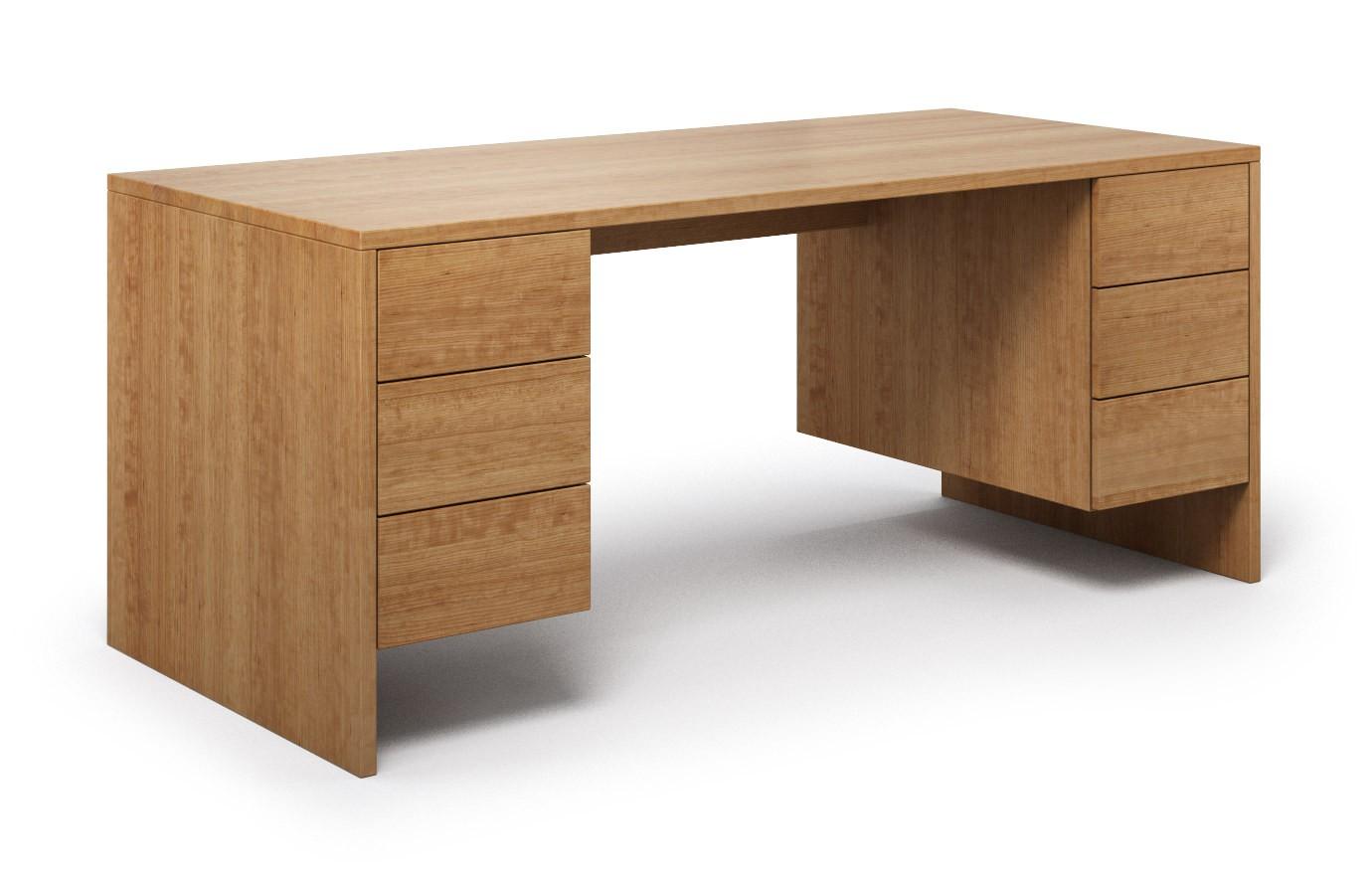 Schreibtisch Mandato aus Kirschbaum günstig online kaufen