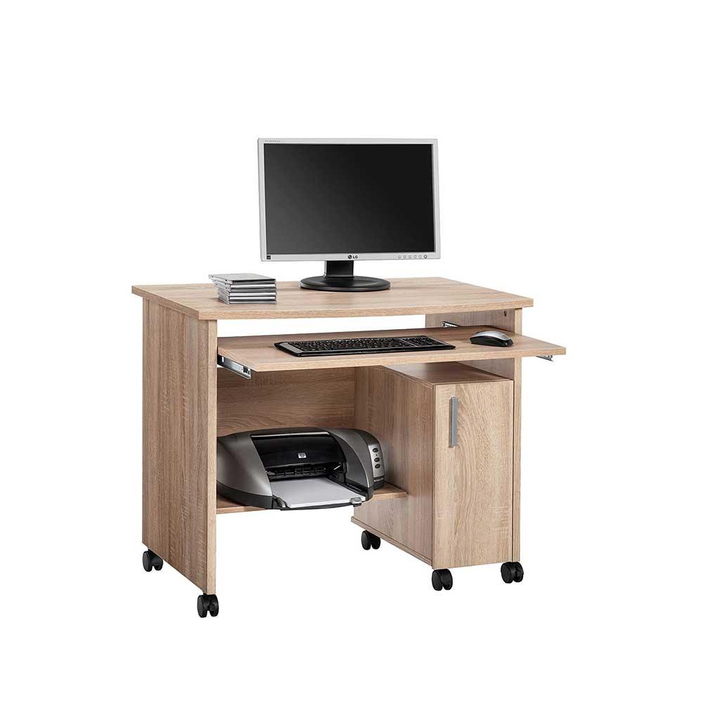 Computertisch mit Rollen Druckerfach günstig online kaufen
