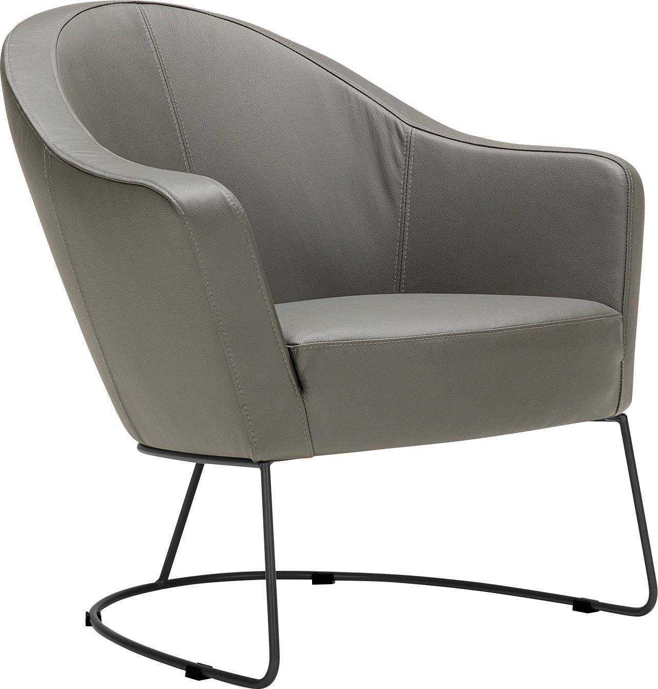 LOVI Loungesessel Grape, Metallrahmen grau, Sitzfläche in hochwertigem Form günstig online kaufen
