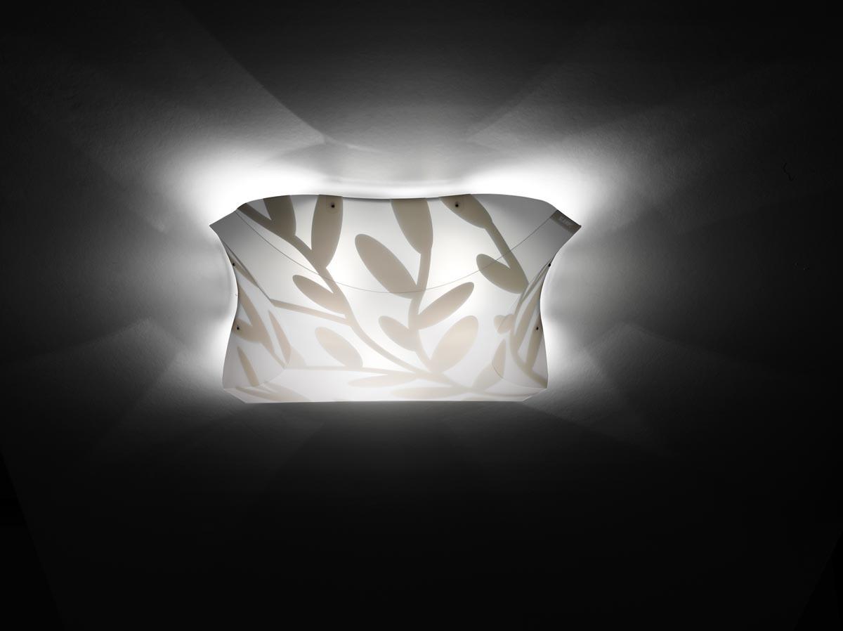 SLAMP Büro Wandleuchten Dafne Ceiling-Wall M, Weiß, Kunststoff, DAF14PLF000 günstig online kaufen