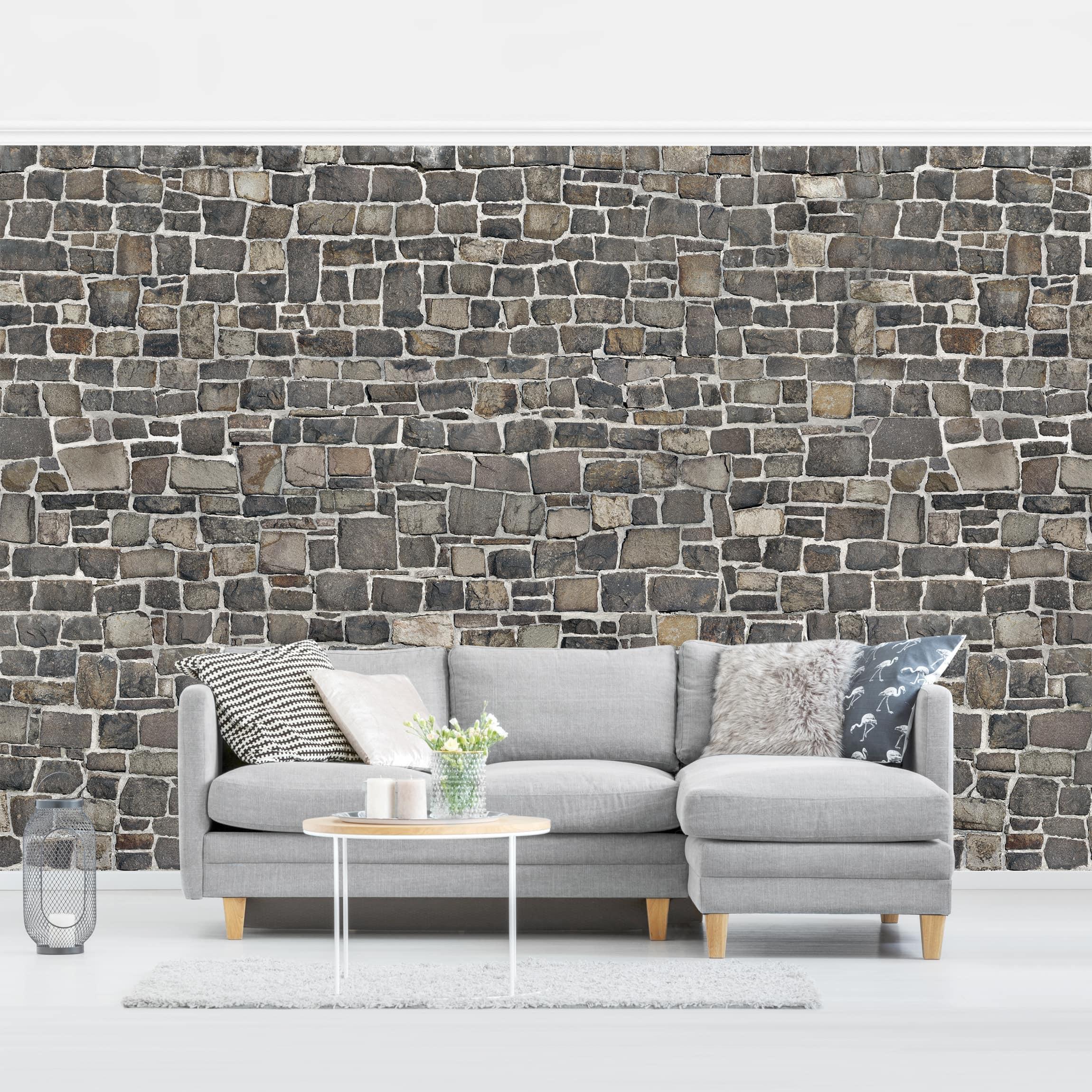 Steintapete Bruchsteintapete Natursteinwand günstig online kaufen