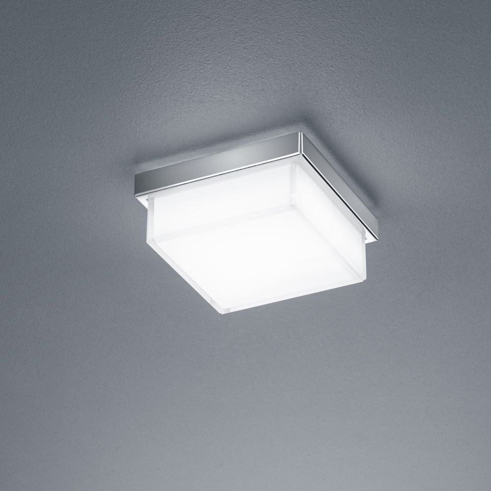 LED Deckenleuchte Cosi in Nickel-matt 5W 610lm 110x110mm günstig online kaufen