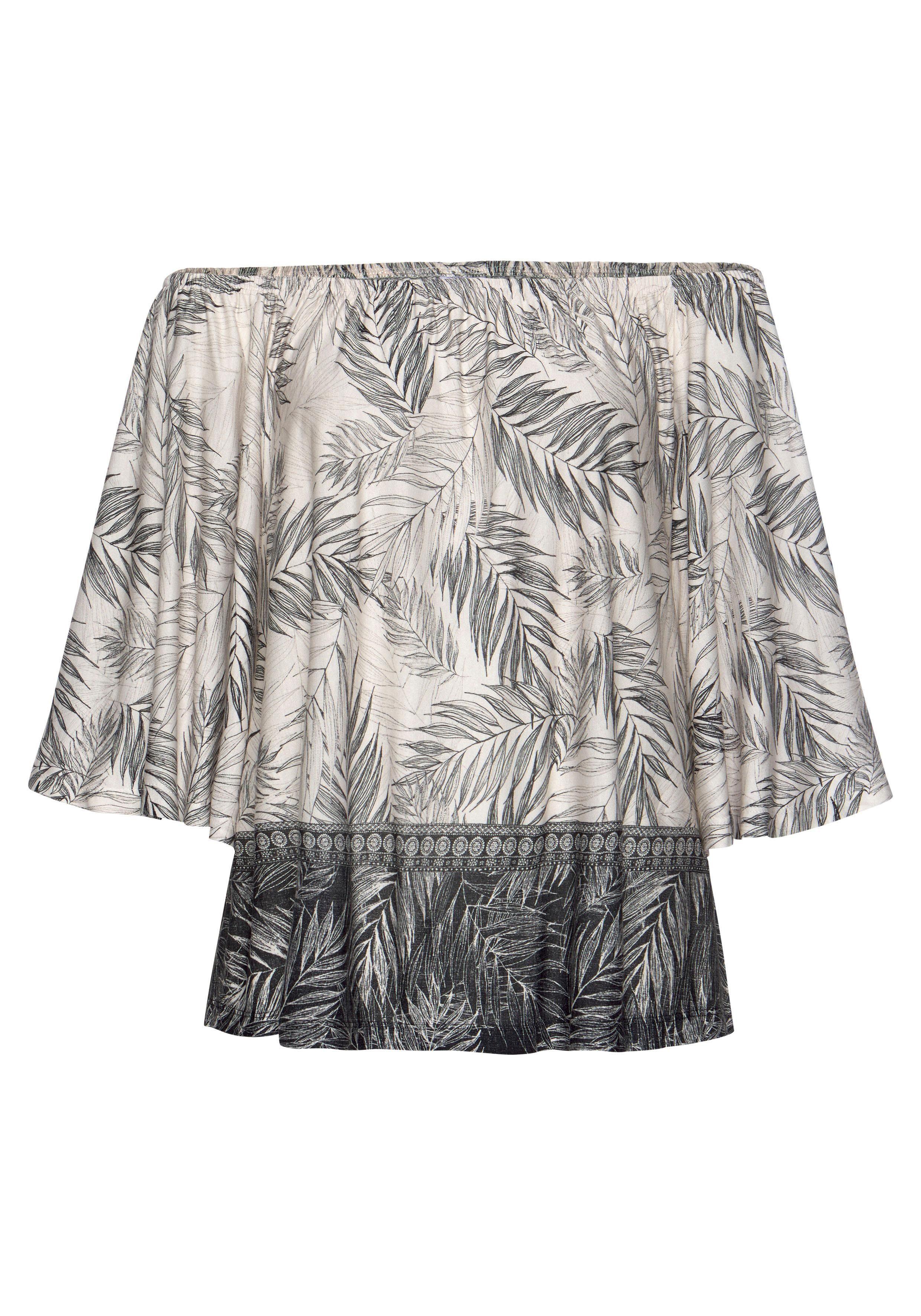 Buffalo Strandshirt, mit Blätterdruck günstig online kaufen