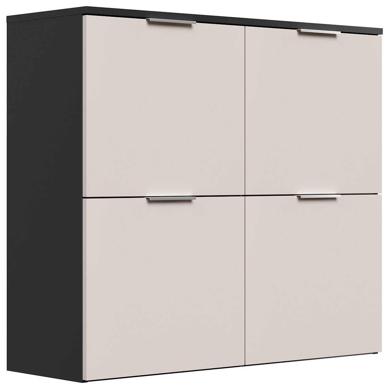 Garderoben Schuhschrank XL hängend Creme-Grafit FARO-02 B/H/T: 104,9x114,6x günstig online kaufen