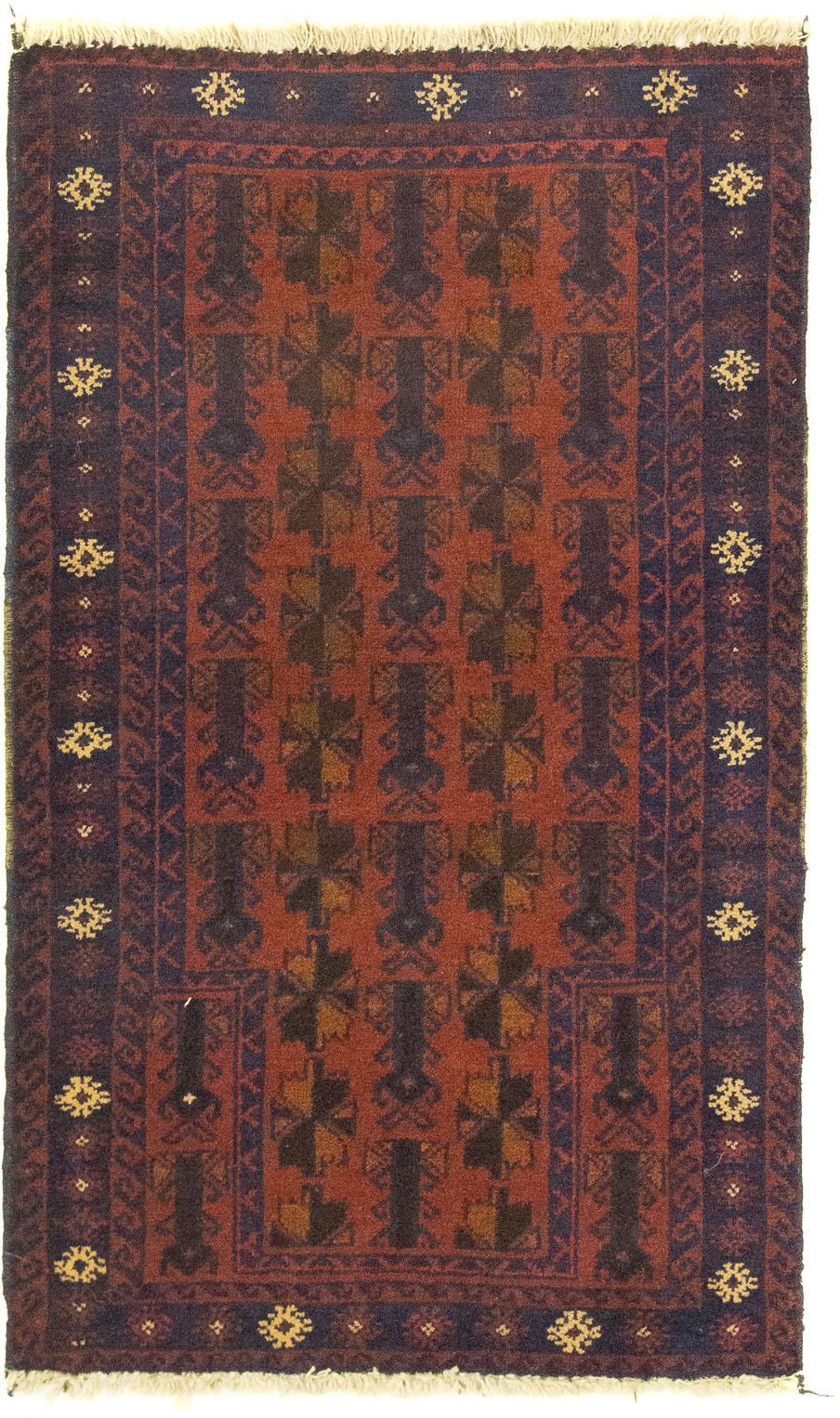 morgenland Wollteppich Belutsch Teppich handgeknüpft orange, rechteckig, 8 günstig online kaufen