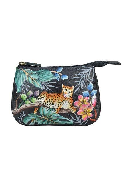 ANUSCHKA Mini Geldbörse »Jungle Queen (handbemaltes Leder)«, mit Reißversch günstig online kaufen