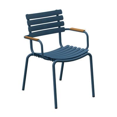 ReCLIPS Stapelbarer Sessel / Armlehnen Bambus - Recycling-Kunststoff - Houe günstig online kaufen