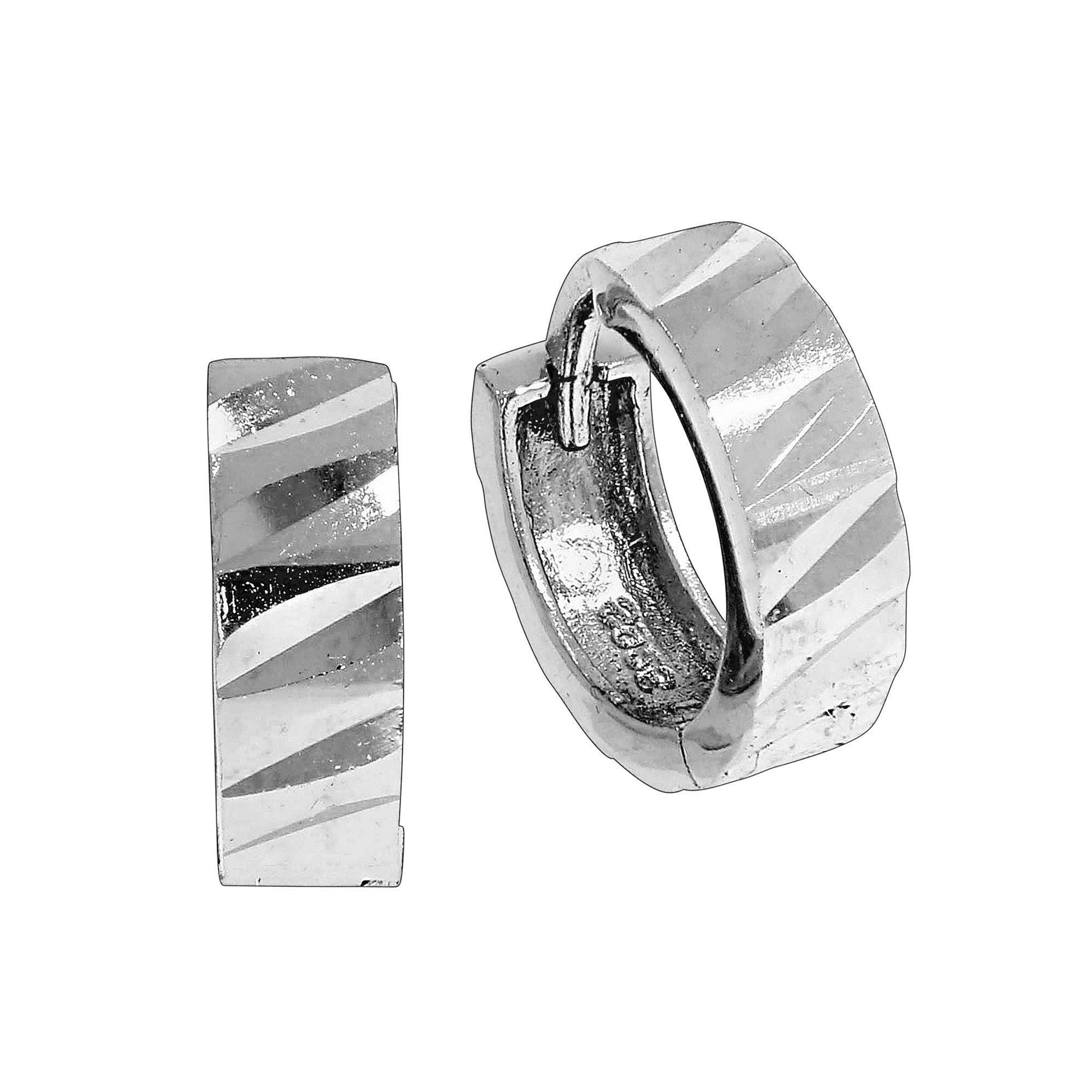 Vivance Klappcreolen »925/- Sterling Silber diamantiert«, rhodiniert+diaman günstig online kaufen