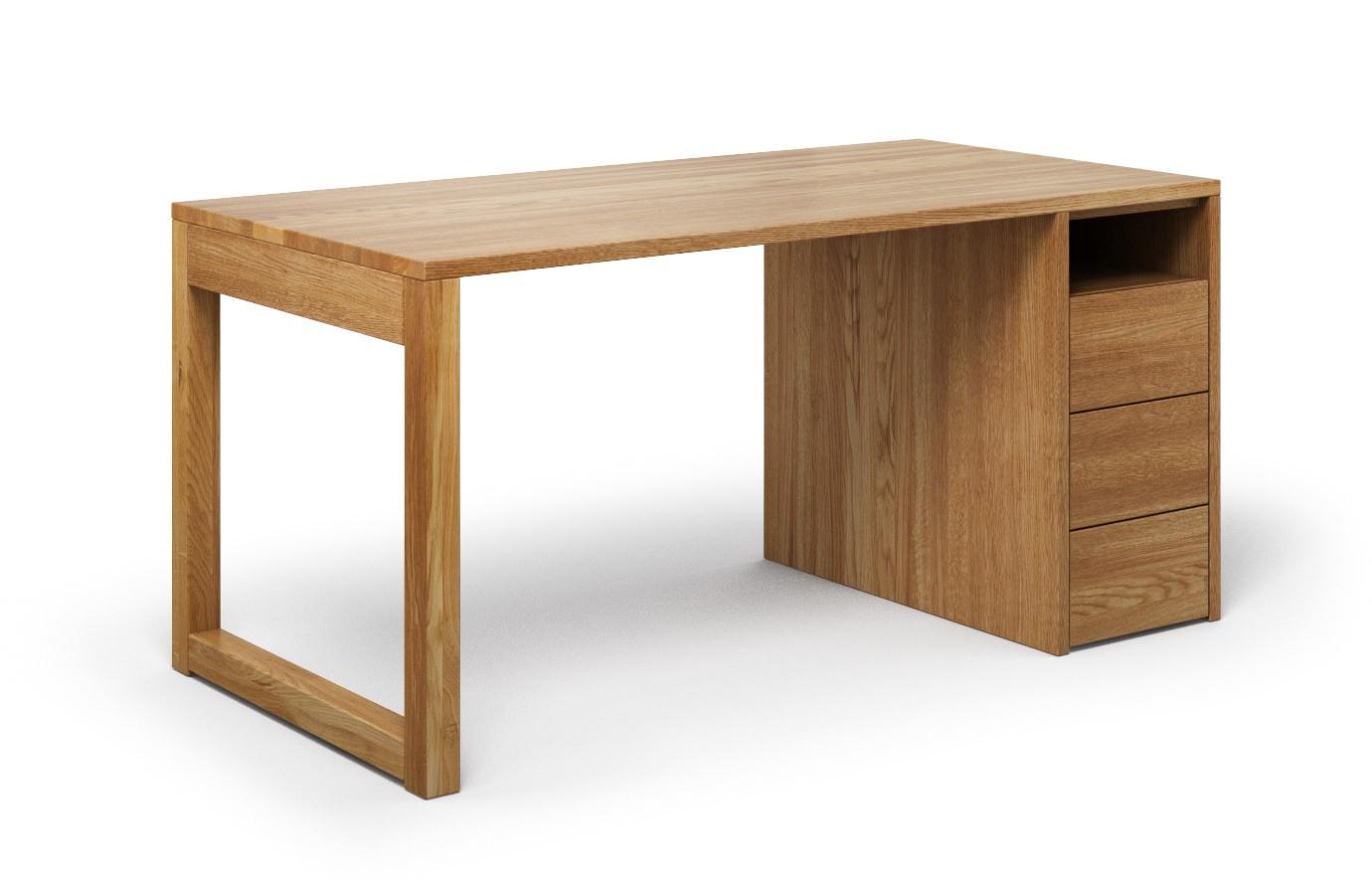 Schreibtisch Cantus aus Eiche rustikal günstig online kaufen
