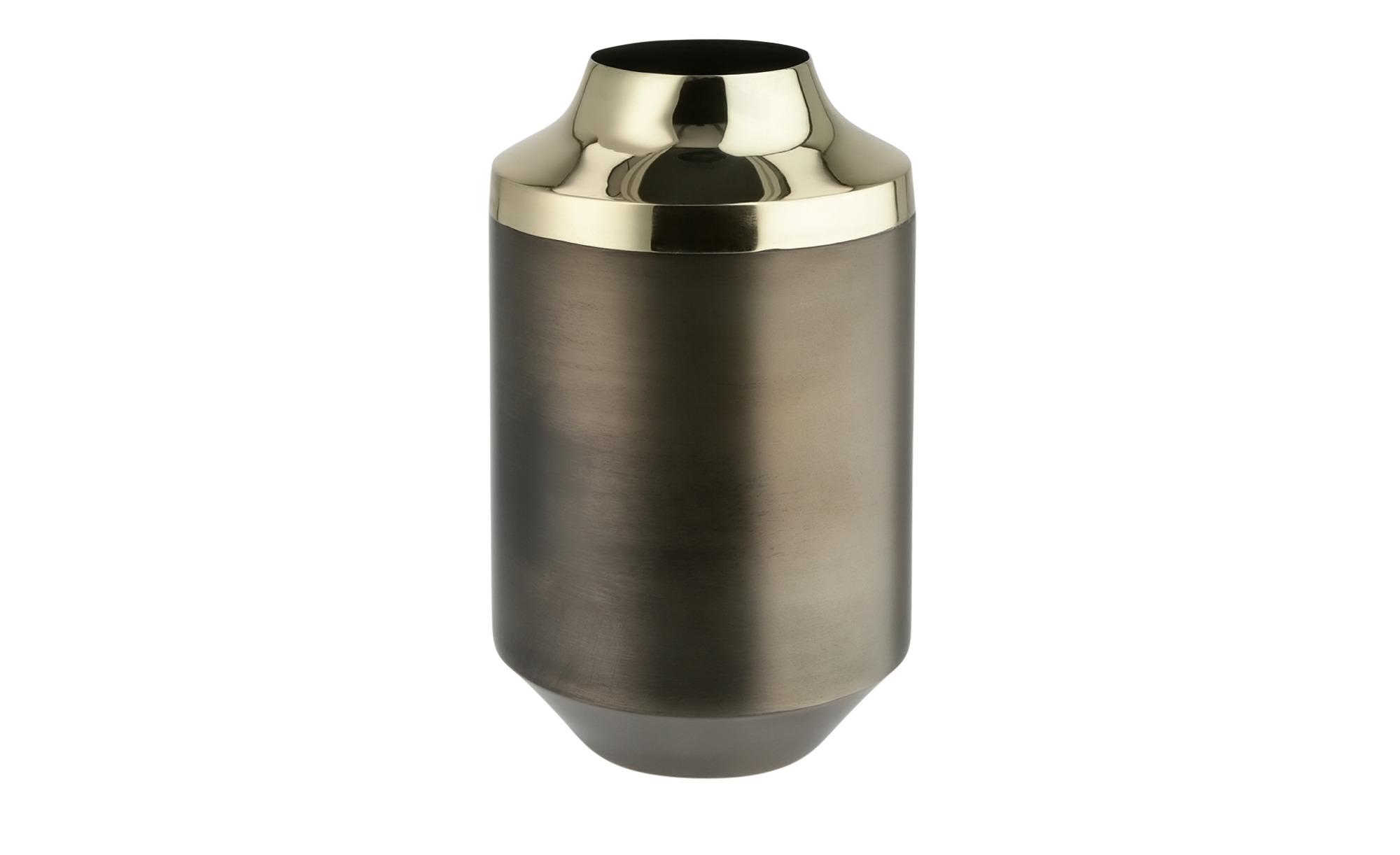 Vase ¦ braun ¦ Metall, StahlØ: 11 Dekoration > Vasen - Höffner günstig online kaufen