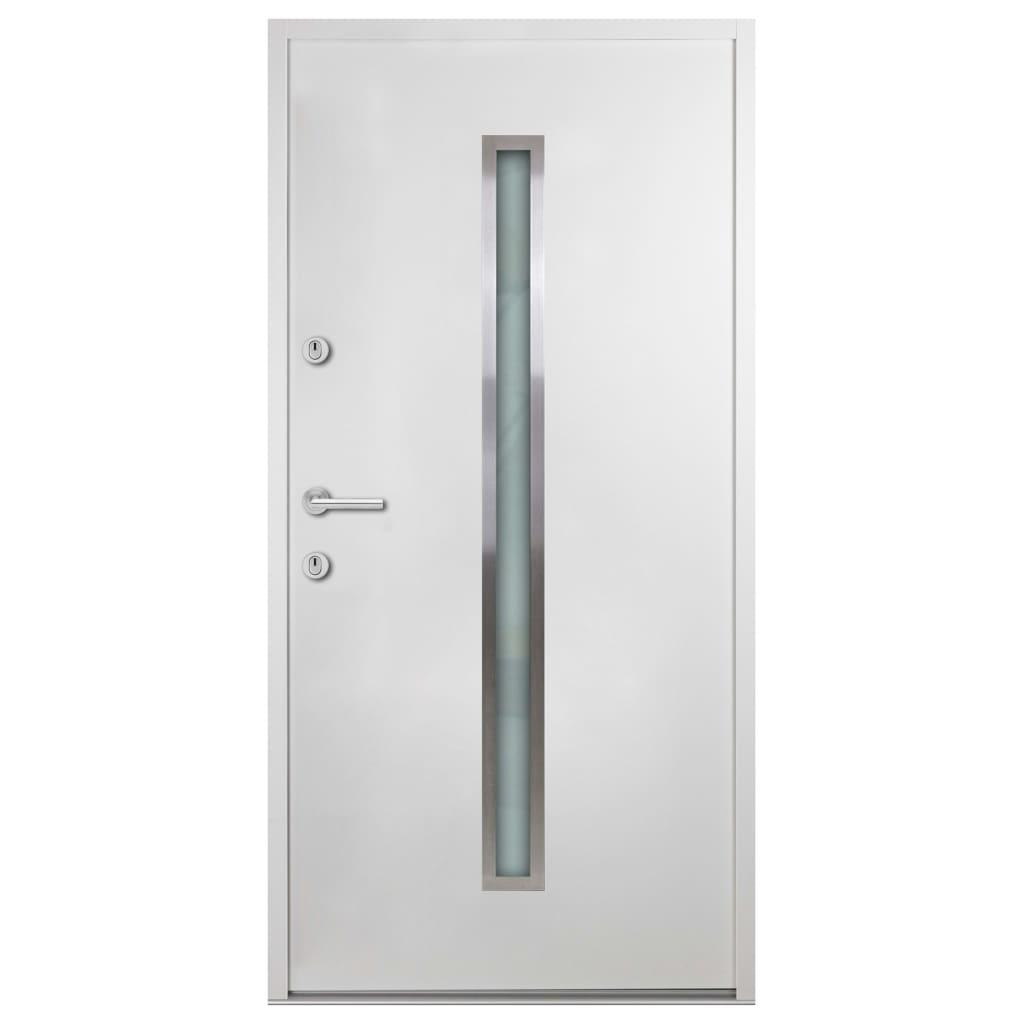 Haustür Aluminium Weiß 100x200 Cm günstig online kaufen