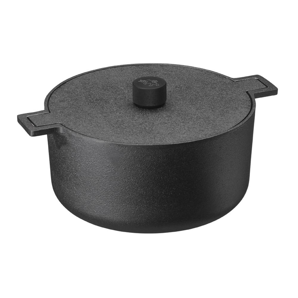 Skeppshult Noir Bräter rund 26 cm / 5 L / mit Deckel / aus Gusseisen mit sc günstig online kaufen