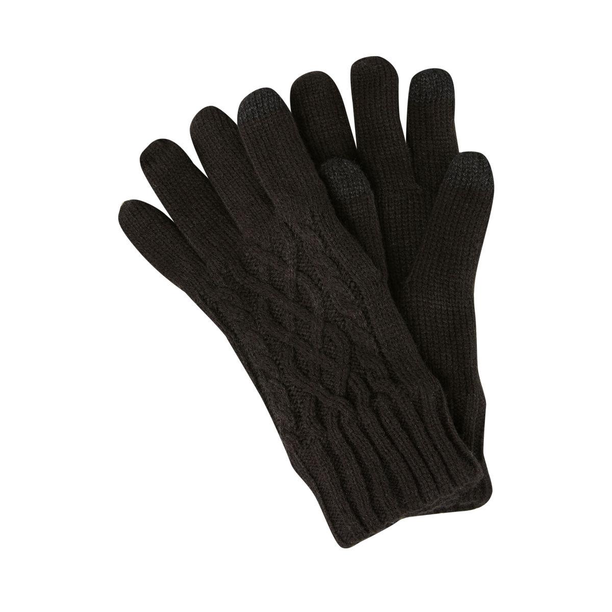 Warme Strickhandschuhe, Zopfmuster günstig online kaufen