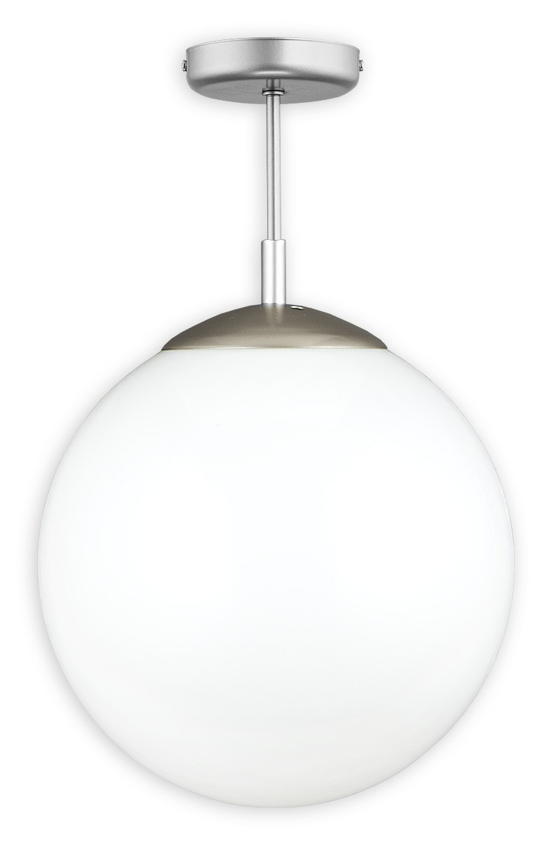 Pendelleuchte Glas weiß 1 flammig E27 Kula 30x31 günstig online kaufen