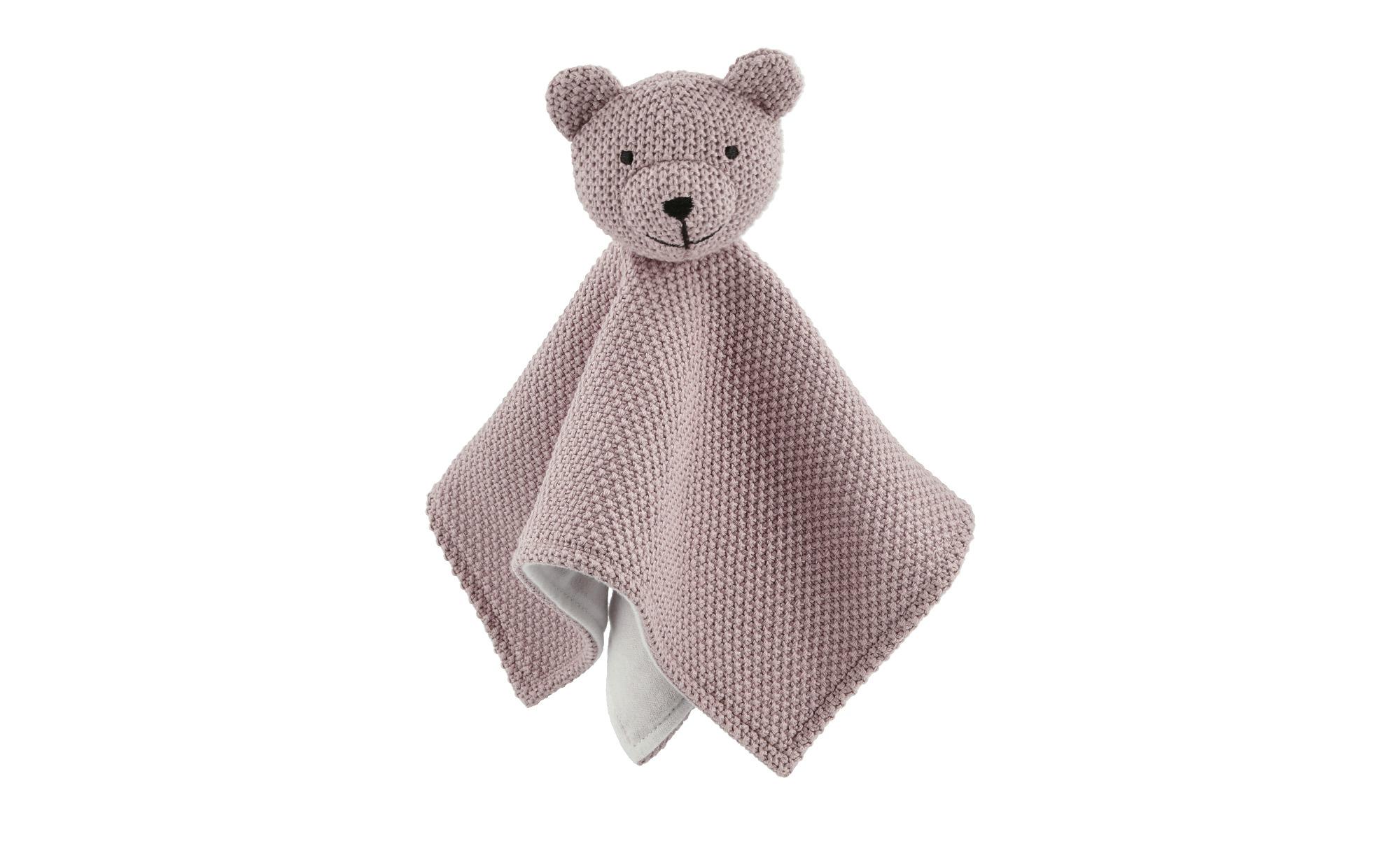 Schmusetuch  Bärchen ¦ rosa/pink ¦ Vorderseite aus 100% Baumwolle (gehäkelt günstig online kaufen