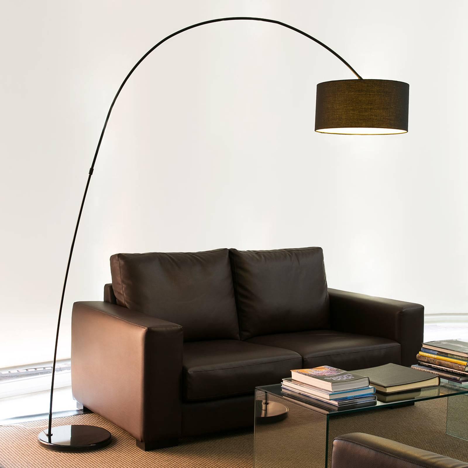 Dekorative Bogenleuchte PAPUA, schwarz günstig online kaufen
