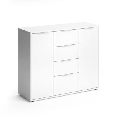 Fehrnsehschrank Leon Weiß weiß günstig online kaufen