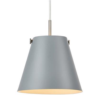 Markslöjd  Skandinavische Leuchten TRIBE Pendant 1L White/Steel, 107389 günstig online kaufen
