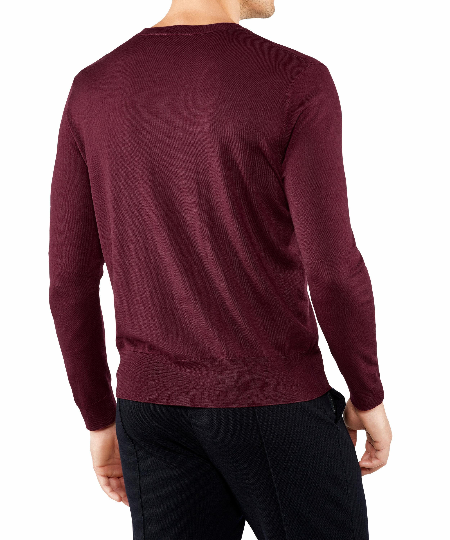 Hochwertiger Basic-Pullover mit Rundhalsausschnitt aus extra-feiner Merinow günstig online kaufen