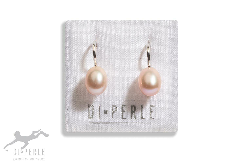 DI PERLE Paar Ohrhänger »925 Silber Süsswasser Perlen Ohrhänger«, Damen Per günstig online kaufen