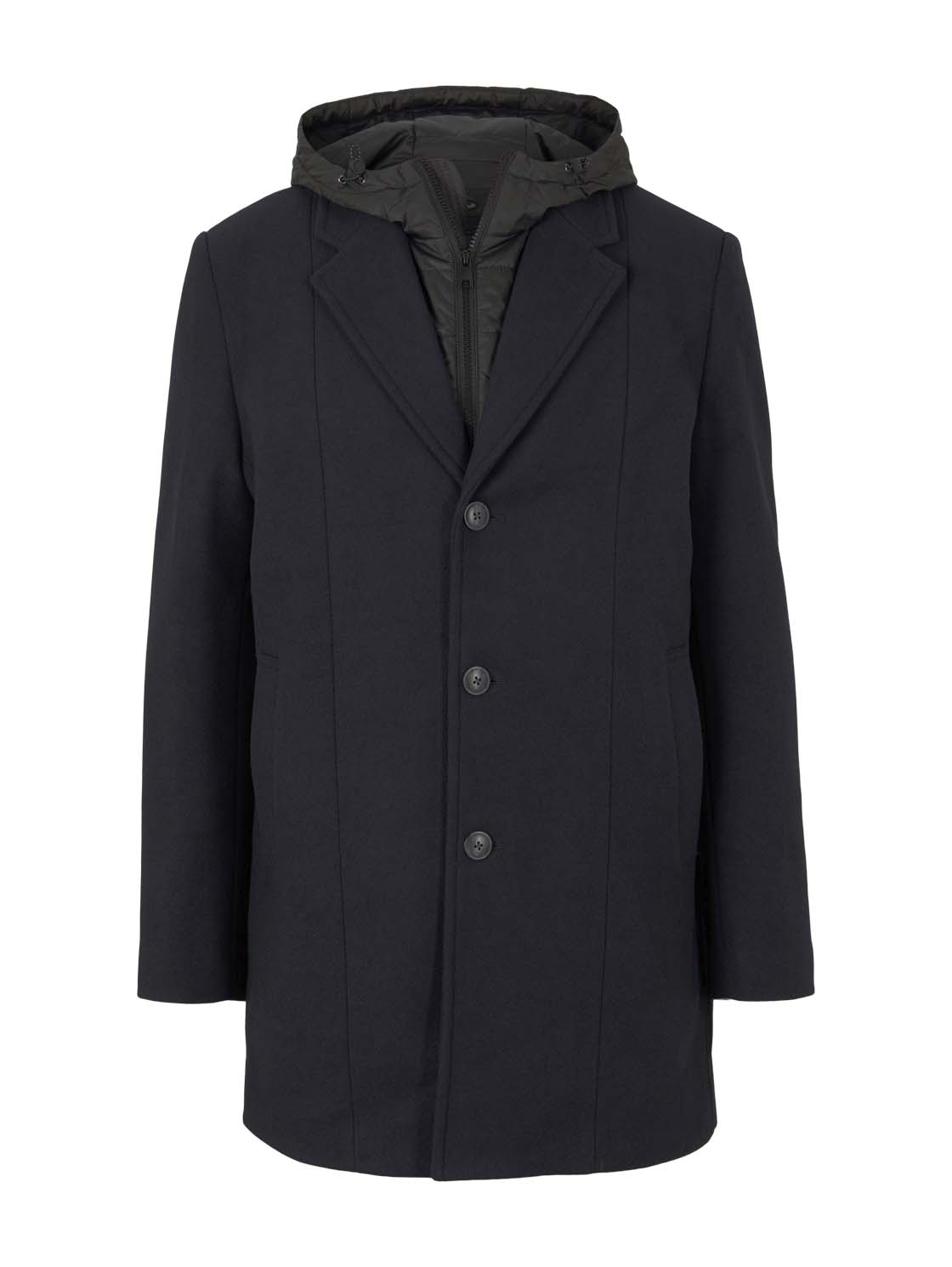TOM TAILOR DENIM Herren Mantel mit Jacke, blau, Gr.S günstig online kaufen