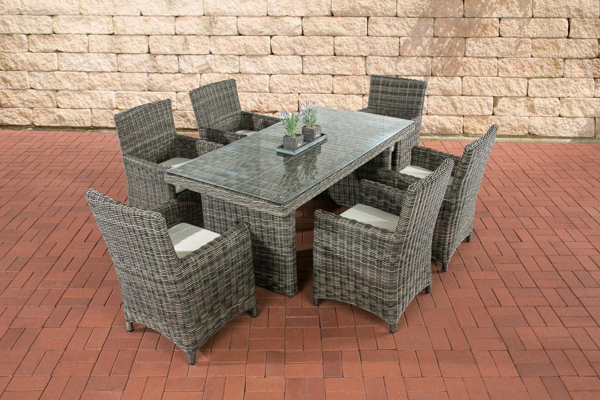 Sitzgruppe Fontana-rund/graumeliert-Cremeweiß günstig online kaufen