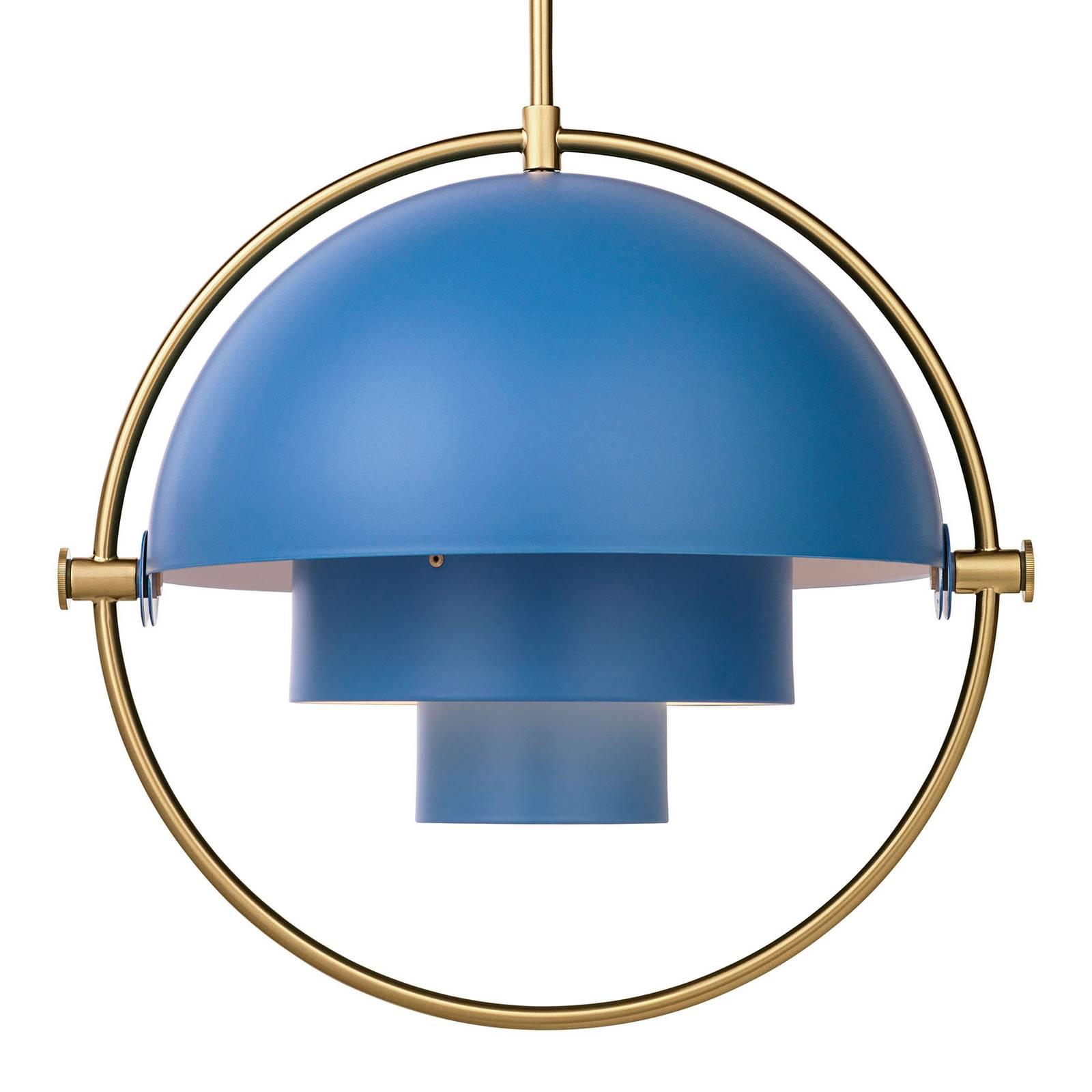 Gubi - Multi-Lite Pendelleuchte Ø36cm Gestell Messing - nordisch blau/matt/ günstig online kaufen