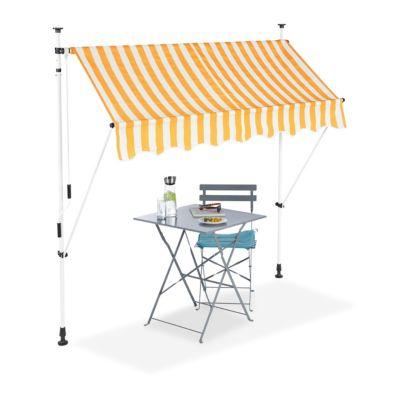 relaxdays Klemmmarkise gelb weiß gold/weiß günstig online kaufen