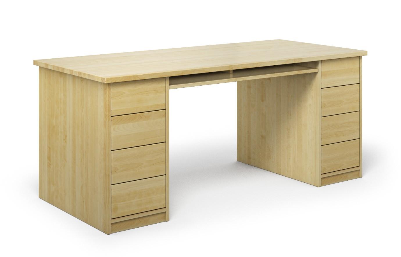 Schreibtisch Vivendo aus Birke günstig online kaufen