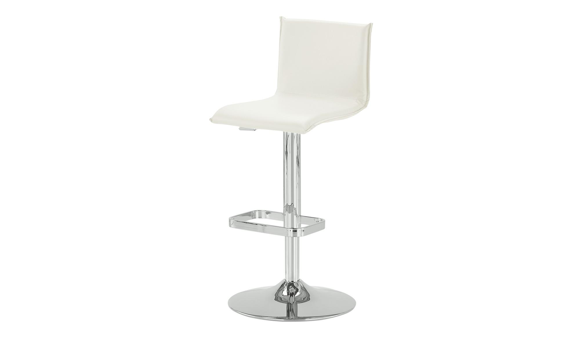 Kunstleder-Barhocker - weiß - 44 cm - 37 cm - Stühle > Barhocker - Möbel Kr günstig online kaufen