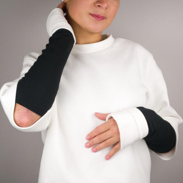 Armstulpe Fold White&Black günstig online kaufen