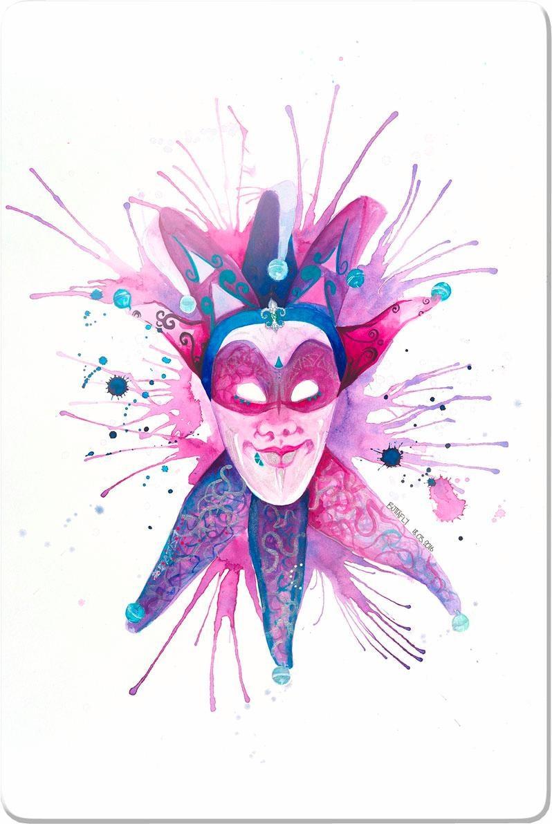 Wall-Art Glasbild Buttafly - Mardi Gras Mask, 40/60 cm günstig online kaufen