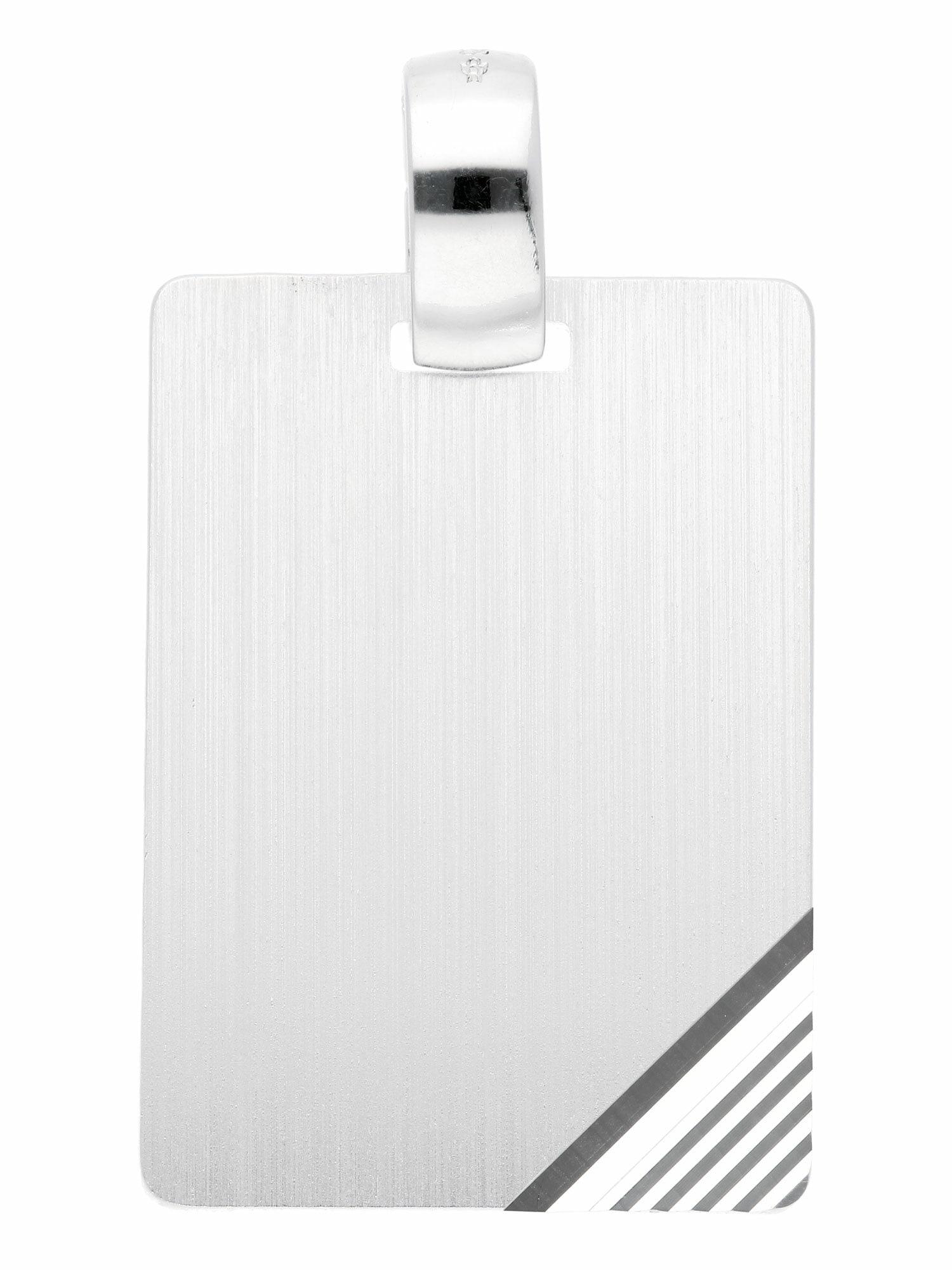 Adelia´s Kettenanhänger »925 Silber Gravurplatte Anhänger«, Silberschmuck f günstig online kaufen
