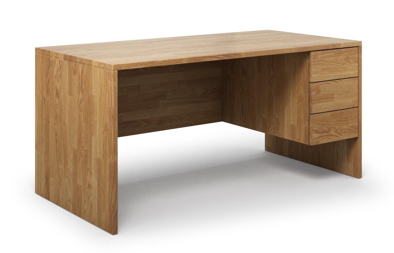 Schreibtisch Opus aus Eiche rustikal günstig online kaufen