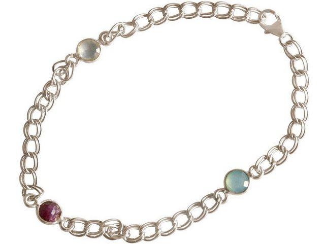 Gemshine Armkette »Rubin, Chalcedon«, Made in Spain günstig online kaufen