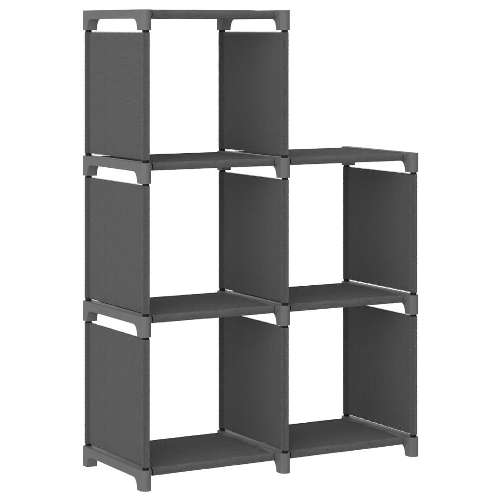 Würfel-regal 5 Fächer Grau 103x30x72,5 Cm Stoff günstig online kaufen