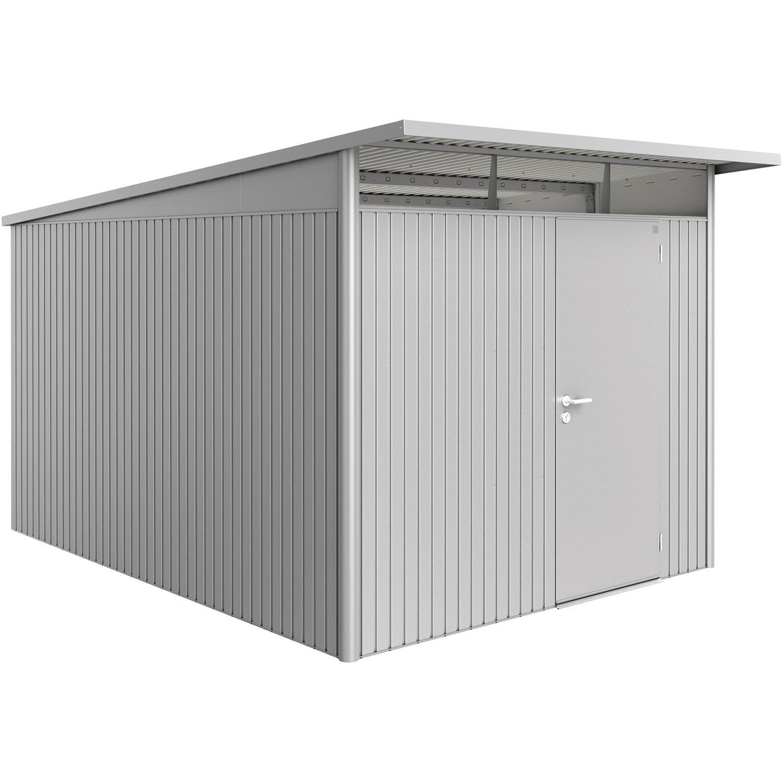Biohort Gerätehaus AvantGarde Silber-Metallic A8 260 cm x 380 cm mit Einzel günstig online kaufen