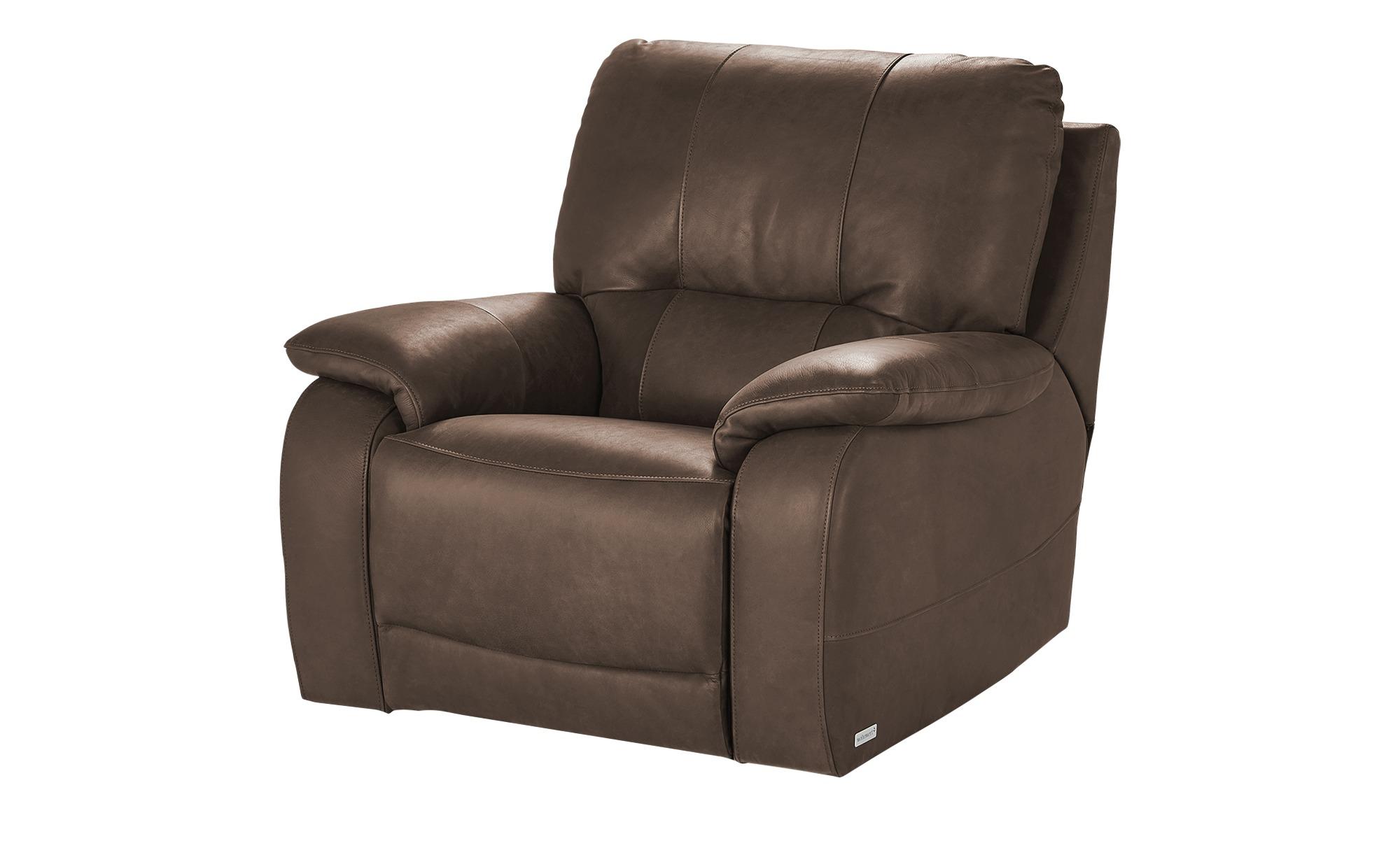 Wohnwert Relaxsessel  Adelma - braun - Polstermöbel > Sessel > Ledersessel günstig online kaufen