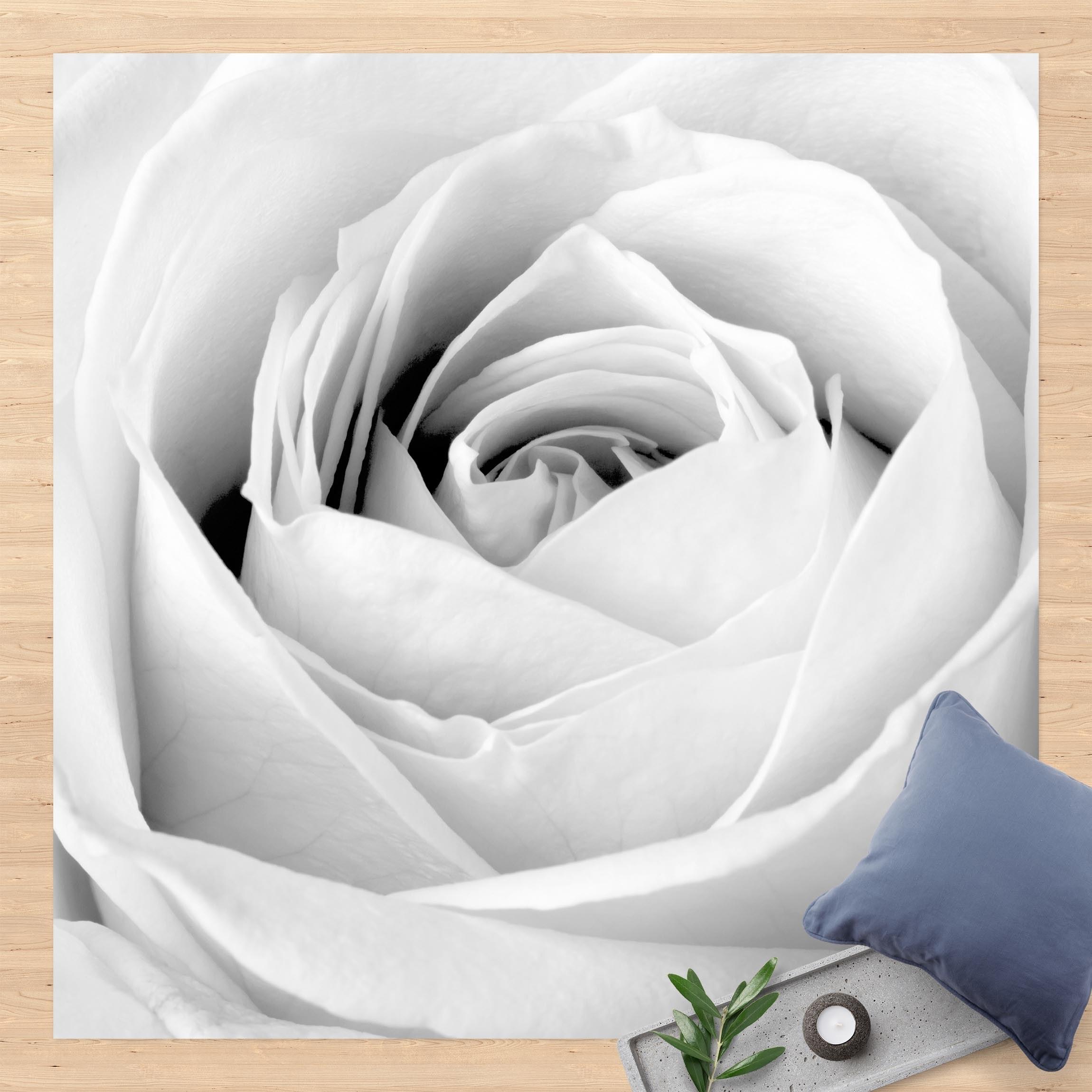 Vinyl-Teppich Close Up Rose günstig online kaufen