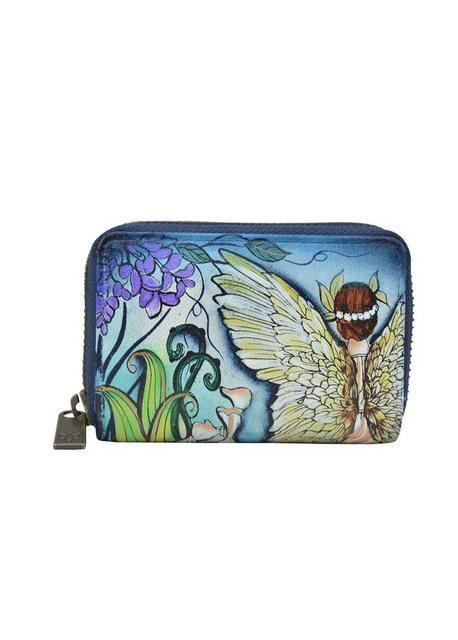 ANUSCHKA Mini Geldbörse »Enchanted Garden (handbemaltes Leder)«, Mehrere Fä günstig online kaufen