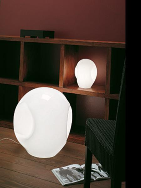 Vistosi Schlafzimmer Tischleuchten Munega, Weiß, Glas, MUNEGLT000P00000BC-- günstig online kaufen